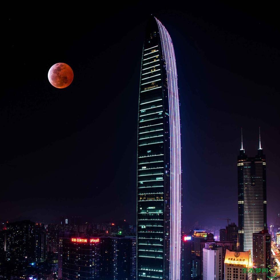 2015年4月4日,红月亮现深圳夜空2.jpg