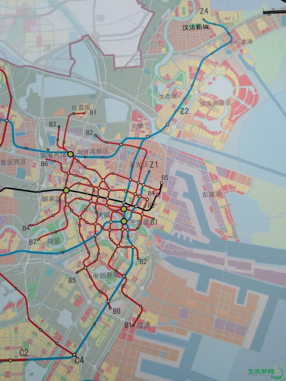 关于滨海新区地铁的规划图