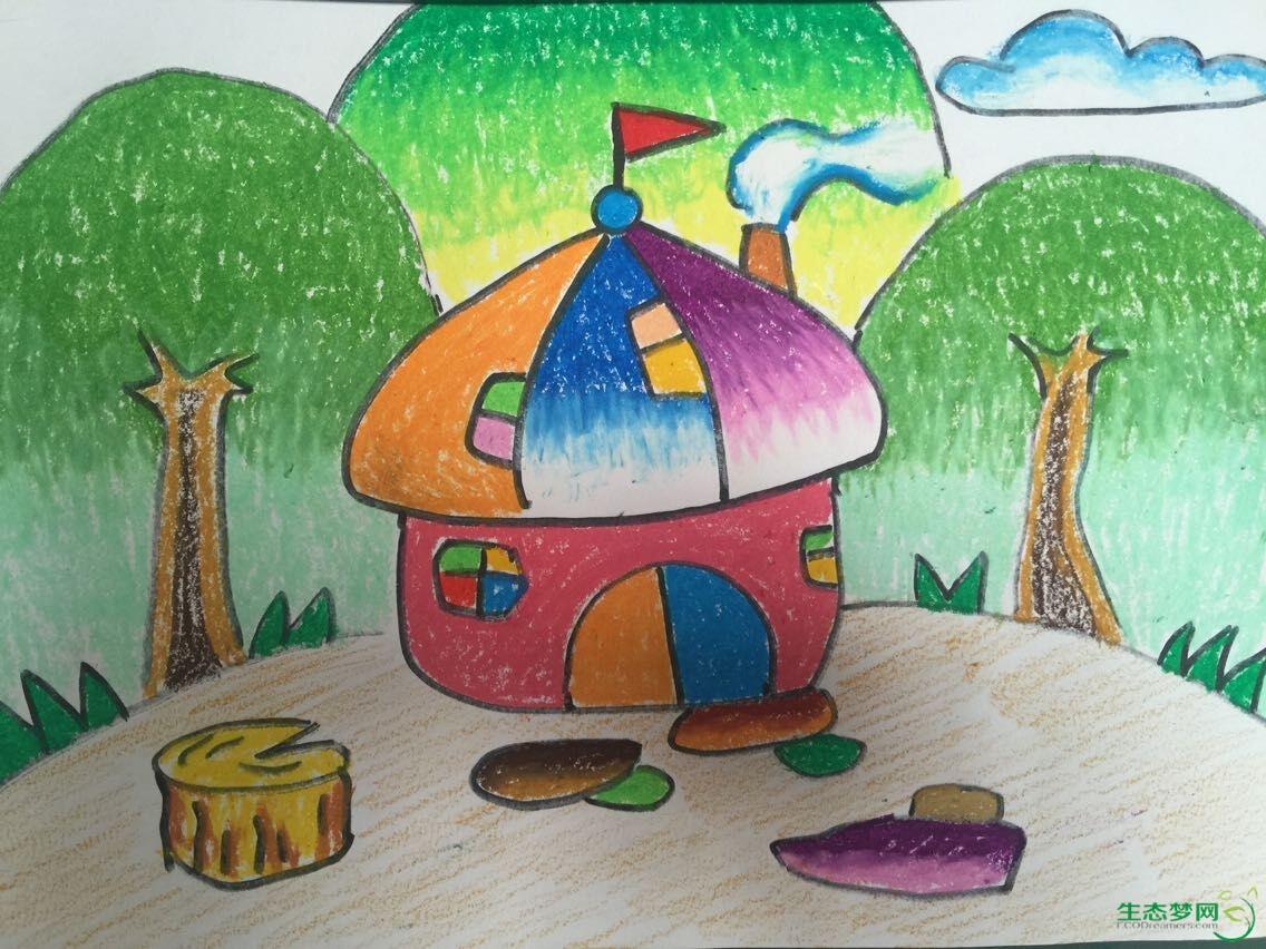 森林儿童画 环保主题的儿童画图片 森林狂欢节主题儿童画